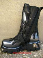 New Rock Boot Ackbar schwarz/silbern