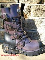New Rock Boot Watto lila / schwarz