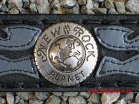 New Rock Gürtel schwarz/silbern mit Conchas