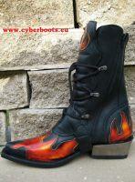 New Rock Boot Revan schwarz/rot