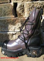 New Rock Boot Jinn lila / schwarz