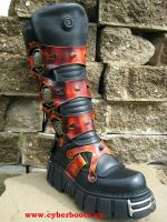 New Rock Boot Tank schwarz / rot