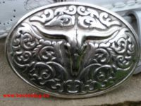 Sendra Gürtel weißem mit Pythonleder und Schnalle