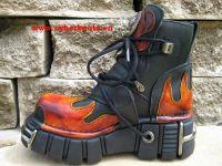 New Rock Boot Norfolk schwarz / rot