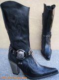New Rock Westernstiefel Amidala schwarz / schwarz