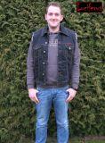 Jeans Weste stone washed schwarz