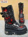 New Rock Boot Orakel schwarz / rot