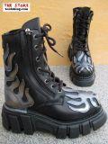 New Rock Boot Terminator schwarz / silbern