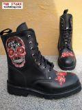 New Rock Boot Crispin schwarz rot