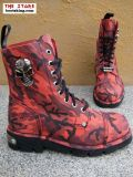 New Rock Boot Cassia rot camouflage