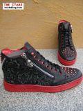 New Rock Schuh Pares schwarz rot