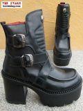 Chaps aus weichem schwarzem Nubuck Leder