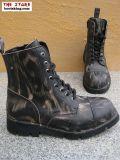 New Rock 8 Loch Stiefel Cassius vintage schwarz braun