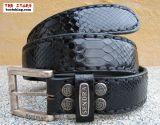 Sendra Gürtel aus schwarzem Python Leder