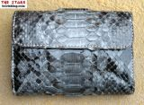 Geldbörse aus blau grauem Python Leder